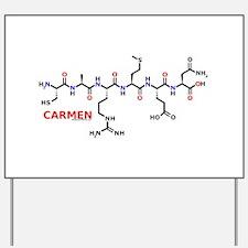 Carmen molecularshirts.com Yard Sign