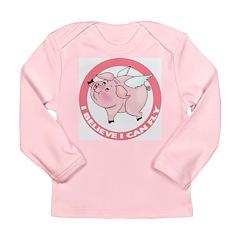 Flying Pig Long Sleeve Infant T-Shirt