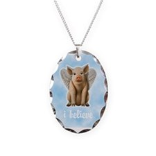 I Believe Flying Pig Necklace