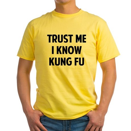 Kung Fu Yellow T-Shirt