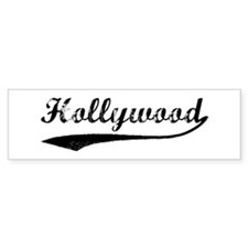 Vintage Hollywood Bumper Bumper Sticker