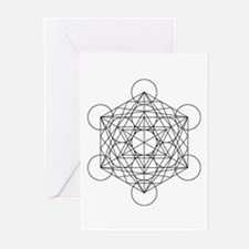 Greeting cards with Metatron's cube (6x)
