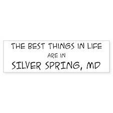 Best Things in Life: Silver S Bumper Bumper Sticker