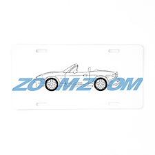 MIATA ZOOM ZOOM Aluminum License Plate