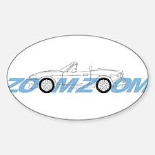 MIATA ZOOM ZOOM Sticker (Oval)