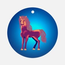 Red horse Ornament (Round)