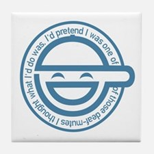 The Laughing Man Tile Coaster