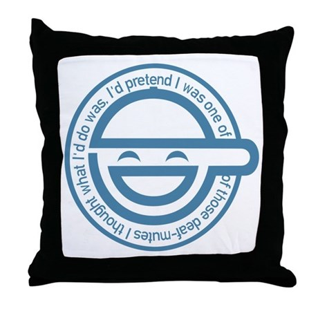 The Laughing Man Throw Pillow