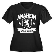 Anaheim Heraldry Women's Plus Size V-Neck Dark T-S