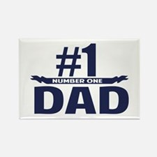 Number 1 DAD Rectangle Magnet