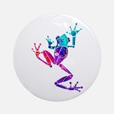 Crazy Purple Tree Frog Ornament (Round)