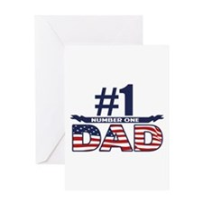 Number 1 DAD Greeting Card