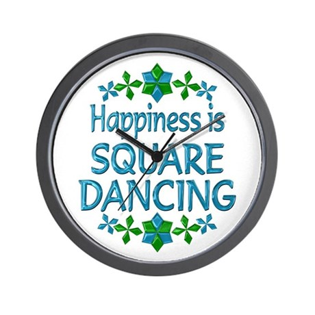 Happiness Square Dancing Wall Clock