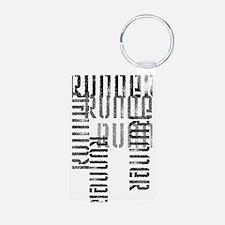 Run Off Aluminum Keychain