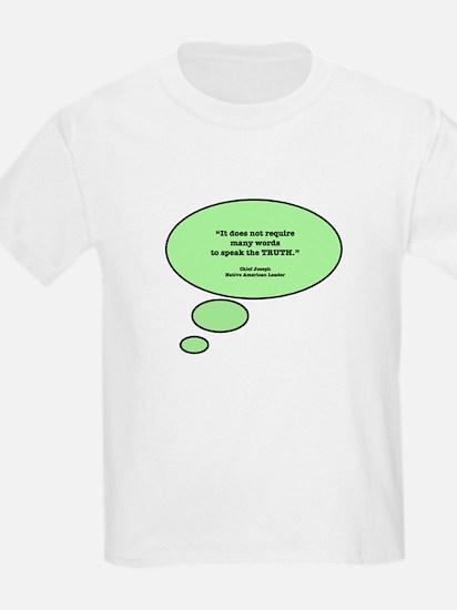Chief Joseph & Truth Kids T-Shirt