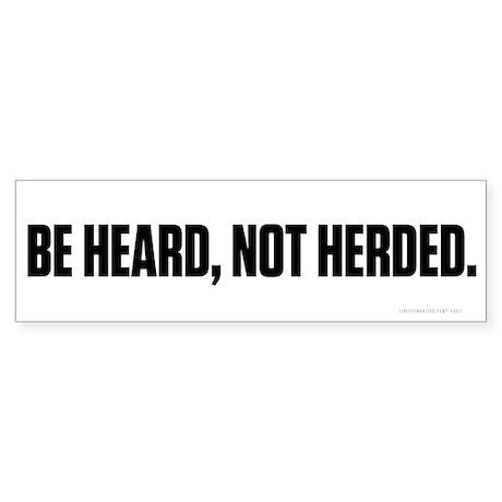 Heard Not Hearded Sticker (Bumper 10 pk)