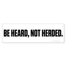 Heard Not Hearded Bumper Bumper Sticker