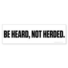 Heard Not Hearded Bumper Sticker