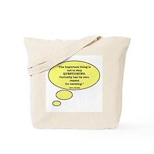 Einstein & Curiosity Tote Bag