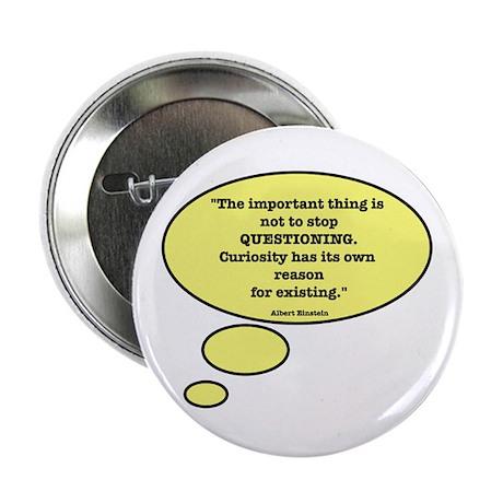 Einstein & Curiosity Button