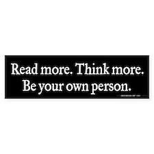 Read Think Be Bumper Sticker