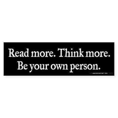 Read Think Be Sticker (Bumper)