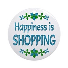 Happiness Shopping Ornament (Round)