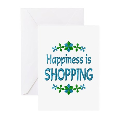 Happiness Shopping Greeting Cards (Pk of 10)