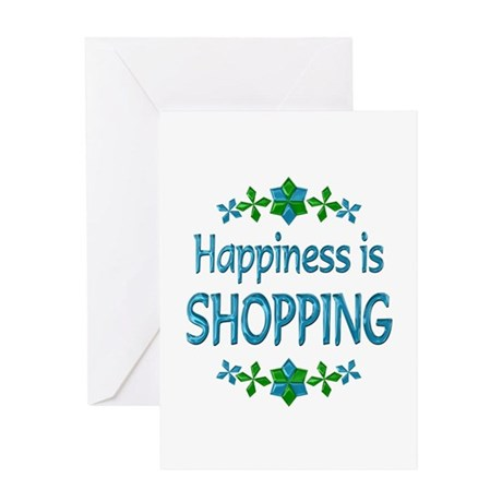 Happiness Shopping Greeting Card
