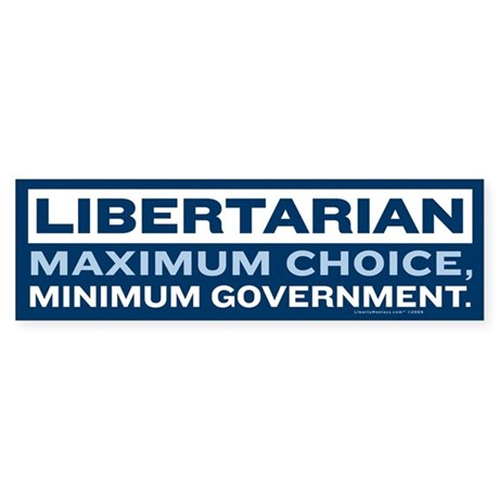 Libertarian Sticker (Bumper)