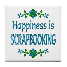 Happiness Scrapbooking Tile Coaster
