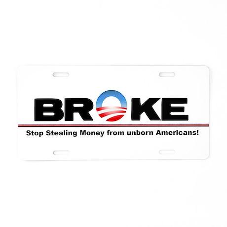 Stop the Spending Aluminum License Plate