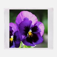 Purple Pansy Throw Blanket