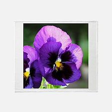 Purple Pansy Throw Blanket