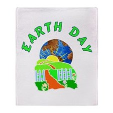 Earth Day Home Throw Blanket