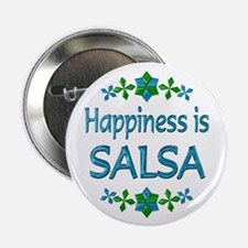 """Happiness Salsa 2.25"""" Button (10 pack)"""