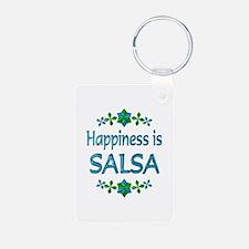 Happiness Salsa Aluminum Photo Keychain