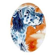 English Setter Ornament (Oval)