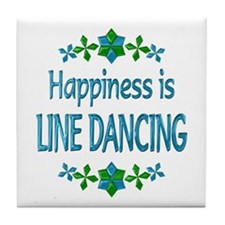 Happiness Line Dancing Tile Coaster