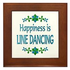 Happiness Line Dancing Framed Tile