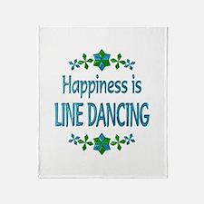 Happiness Line Dancing Throw Blanket