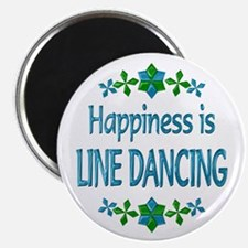 """Happiness Line Dancing 2.25"""" Magnet (10 pack)"""