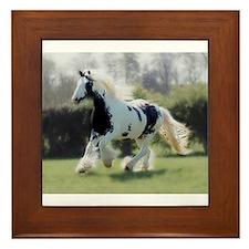 Gypsy Horse Mare Framed Tile