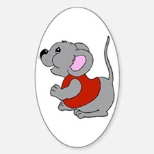Baby Mouse Oval Decal