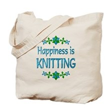 Happiness Knitting Tote Bag
