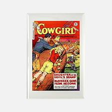 Cowgirl Romances Rectangle Magnet