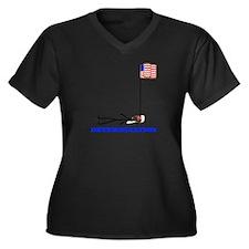 Determination Women's Plus Size V-Neck Dark T-Shir