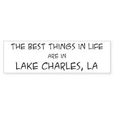 Best Things in Life: Lake Cha Bumper Bumper Sticker