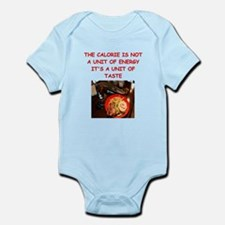 funny diet joke Infant Bodysuit
