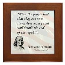Franklin on...Money Framed Tile